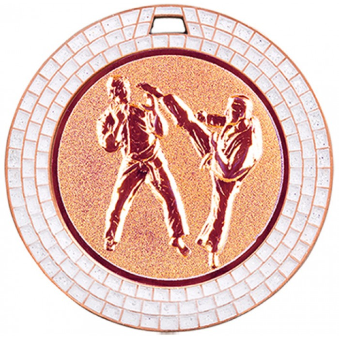 70MM KICKBOXING MEDAL GEM EFFECT - BRONZE